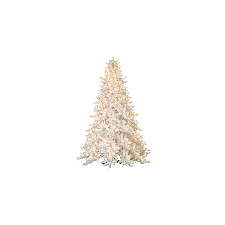 White Spruce Christmas Tree with Clear Pine Cone Lights