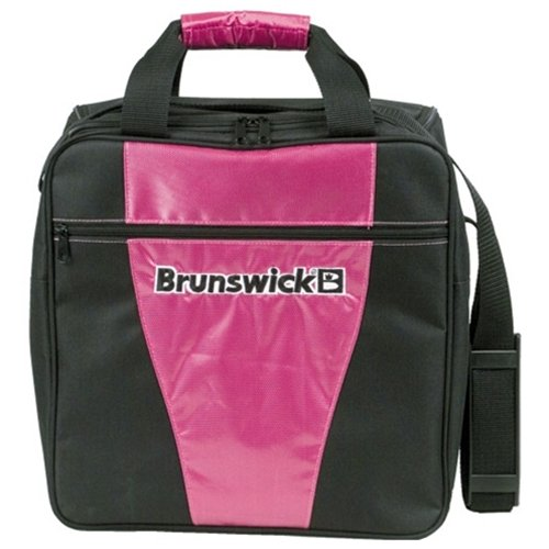 Brunswick Gear Single Bowling Bag- Black/Pink aa130 bubble giant inflatable bowling pin and ball inflatable human bowling for adults and kids airtight inflatable bowling ball