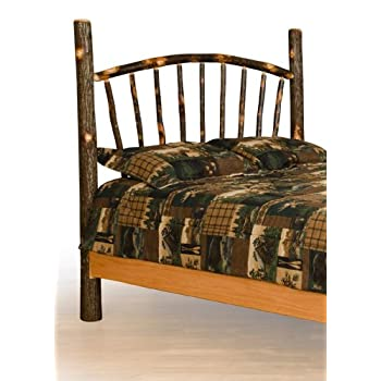 Furniture Barn USA Rustic Hickory Sunburst Bed - Headboard Only - Queen Size- Amish Made