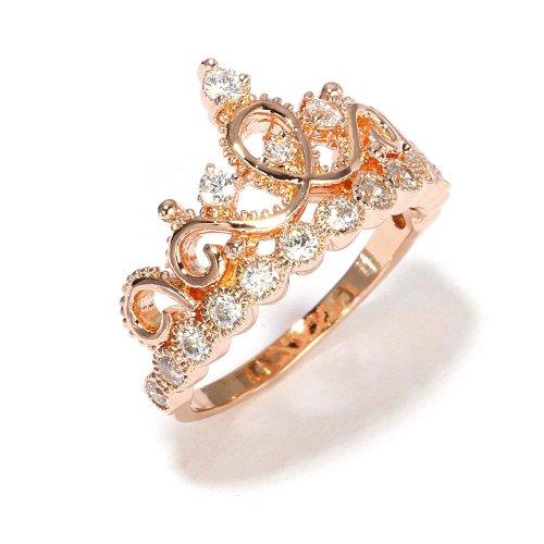 sterling silver crown ring princess ring rose gold. Black Bedroom Furniture Sets. Home Design Ideas