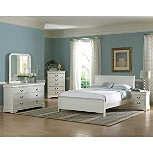 Marianne Sleigh Bedroom Set White Queen