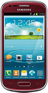 Samsung Galaxy S3 mini I8190 Smartphone (10,2 cm (4 Zoll) AMOLED Display, Dual-Core, 1GHz, 1GB RAM, 5 Megapixel Kamera, Android 4.1) garnet-red