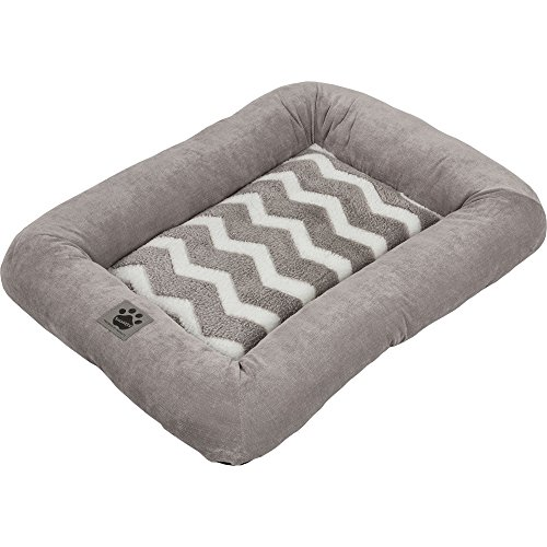 Precision Pet SnooZZy Hip as a Zig Zag Low Bumper Mat , 2000 Gray and White (Precision Pet Bumper Pillow Bed compare prices)