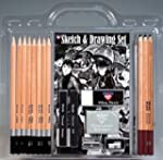 18 Pc Sketch & Drawing Set with Penci...