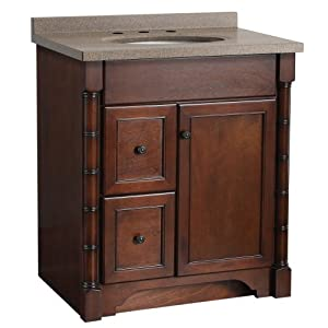 Foremost ESNAT3021DL-8CB Estlin 31-Inch  Vanity, Left Drawers and Canyon Brown Granulite Combo