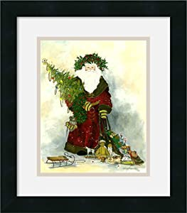 Santa's gifts by Peggy Abrams Framed