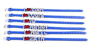 6x I Love 1d One Direction Member Bule Bracelet Belt Bangle Wristband Fashion Jewelry from Yiwu City Yinuo E-Commercial Business Co.,Ltd