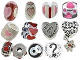 Timeline Trinketts Charm Bracelet Beads Fits Pandora Jewelry European Style Rhinestone - Funny Hearts