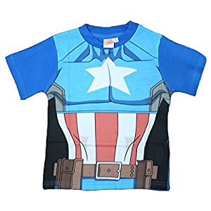 Official Boys Kids T-shirt Avengers Ultron Hulk Iron Man Captain America Age 2-7