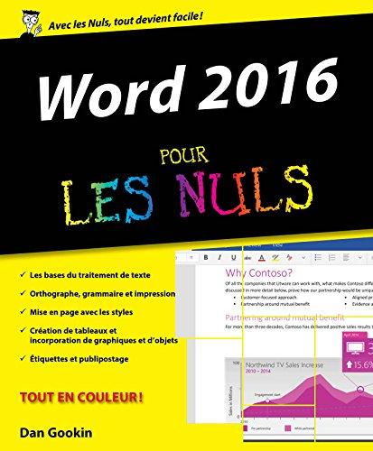 Word 2016 Pour les Nuls gratuit