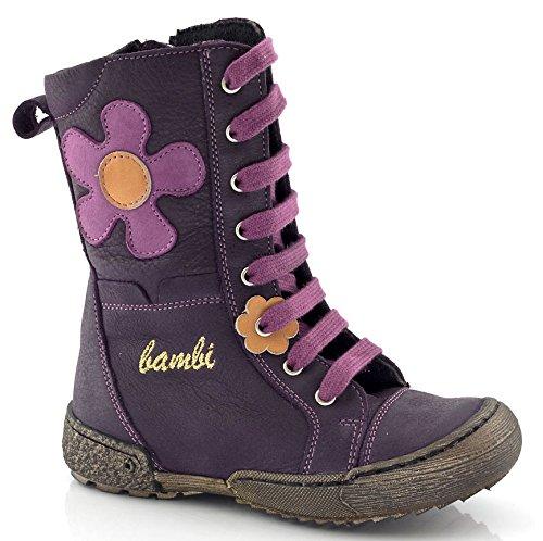 Bambi by Froddo Leder Stiefel lila violett Reißverschluss kaufen