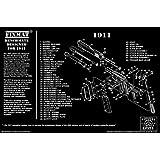1911 diagram FIXMat BenchMate 11 X 17 Handgun Cleaning Mat featuring 1911 diagram, Black