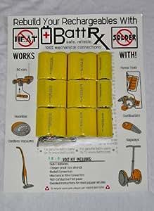 Ridgid 18 Volt Battery Rebuild Kit High Drain NiCd 2.1 Amps