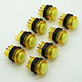 Amazon.co.jpEasyget 8 Pcs/lots 5v Strengthened Round LED Illuminated Push Button 28mm*33mm with Build-in Microswitch for Arcade Games DIY / Repair Parts Color in Yellow