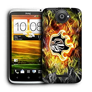 Snoogg Animal Skull Designer Protective Back Case Cover For HTC ONE X