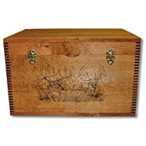 Evans Sports Flat Top Trunk, Two Trophy Deer