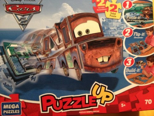 Disney Pixar Cars2 2 Sided Puzzle up Flip-it Build-it