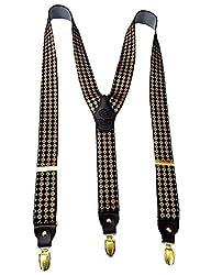 Navaksha Black Adjustable Suspender