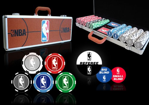 Officially Licensed NBA Poker Chip Set - 500 pc 11.5g Chips with NBA Cards plus more!