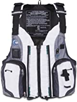MTI Adventurewear Dio F-Spec Kayak Fishing PFD Life Jacket (Aluminum/Gray, X-Large/XX-Large)