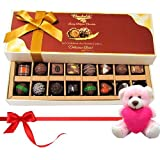Valentine Chocholik Premium Gifts - Seasonal Chocolates With Dark And Milk Chocolates With Teddy
