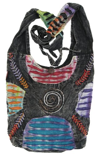 Bohemian Embroidered Ripped Razor Cut Sling Purse