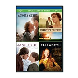 Atonement / Pride &amp; Prejudice / Jane Eyre / Elizabeth Four Feature Films