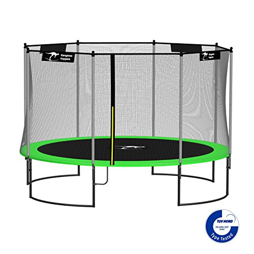 Kangaroo-Hoppers-12-Feet-Round-Trampoline-with-Safety-Net-Enclosure-and-Spring-Pad-APPLE-GREEN