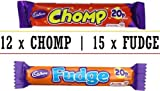 Cadbury CHOMP & FUDGE MIX Standard Bars 12 x Chomp 15 x Fudge (C5)