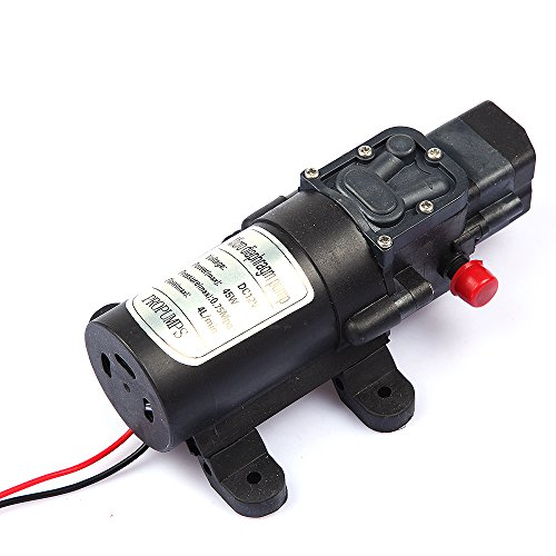 Tabstore 0.75Mpa High Pressure Micro Diaphragm Self Priming Pump Dc 12V 45W 4L/Min For Boat Water Taps, Motor Home, Carvan