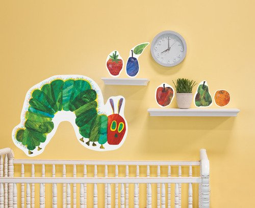 Oopsy Daisy 28 by 35-Inch Peel and Place Eric Carle's The Very Hungry Caterpillar by Eric Carle, Small