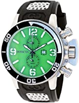 Invicta Corduba GMT Green Dial Stainless Steel Black Rubber Mens Watch 80206