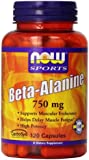 NOW Foods Beta-Alanine 750mg, 120 Capsules