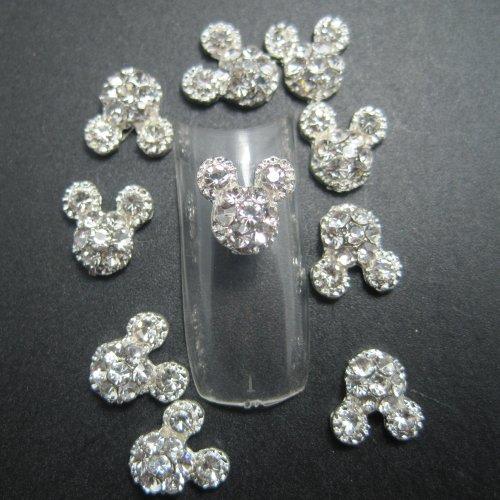 EVERMARKET 10PCS Fashion Nail Art 3d Alloy Rhinestones Nail