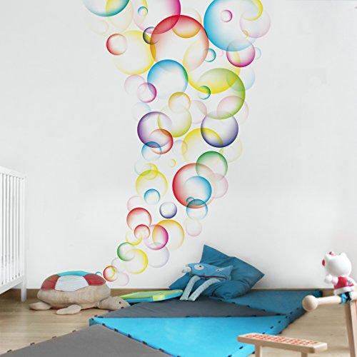 Tapeten Kinderzimmer Vlies : Kinderzimmer Tapeten  Vliestapeten Premium  Rainbow Bubbles