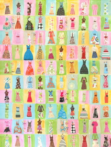 Oopsy Daisy Dress Party Stretched Canvas Wall