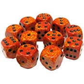 Custom & Unique {Standard Medium 16mm} 12 Ct Dozen Pack Set Of 6 Sided [D6] Square Cube Shape Playing & Game Dice...