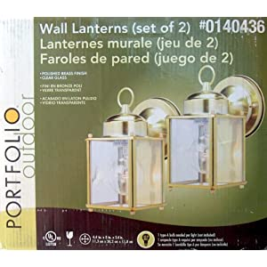 Click to buy Portfolio Outdoor Lighting: WALL LANTERN - OUTDOOR- {SET OF TWO} from Amazon!