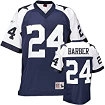 Marion Barber #24 Dallas Cowboys Replica Throwback NFL Jersey Blue Size 50 (Large)