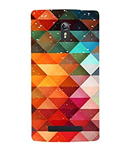 PrintVisa Color Block Prisma Pattern 3D Hard Polycarbonate Designer Back Case Cover for Oppo Find 7