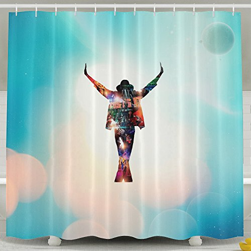 [Creamfly King Of Pop Michael Waterproof Mildew Resistant Shower Curtain Bath Curtain With Hooks] (Michael Jackson Billie Jean Costumes For Kids)