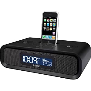 ihome ip97 dual alarm clock radio for ipod and iphone black el. Black Bedroom Furniture Sets. Home Design Ideas