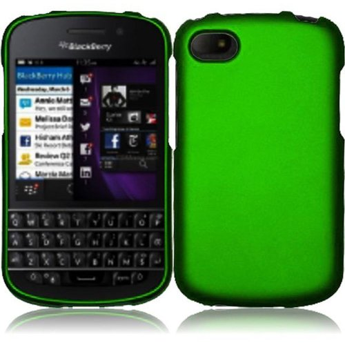 Cell Accessories For Less (Tm) For Blackberry Q10 Rubberized Cover Case - Dark Green // Free Shipping By Thetargetbuys