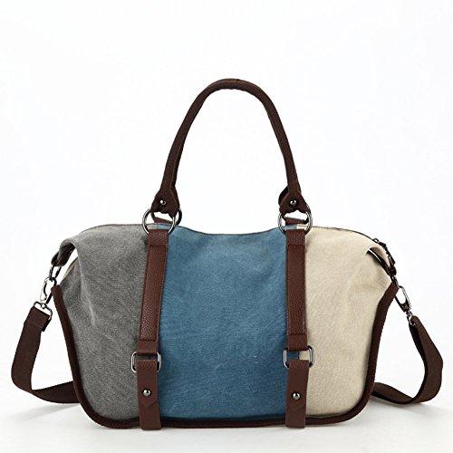 borsa di tela moda/Casual spalla femminile borsa Messenger/Hit pacchetto cuciture colore-D