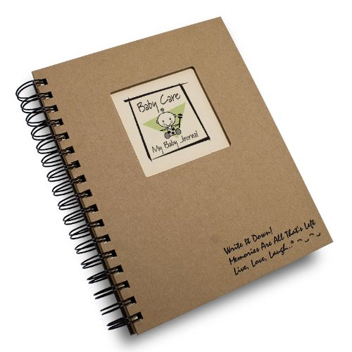 Baby Care, My Baby Journal - Kraft Hard Cover (prompts on every page, recycled paper, read more...)