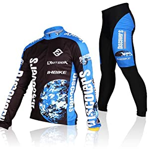 2013 Inbike Mens 100% Ployester Material Long Sleeve Cycling Jersey Suit,fashion Long Sleeve Cycling Jersey Set by INBIKE