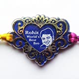 Gold Plated Heart Shaped Personalized Photo And Message Rakhi