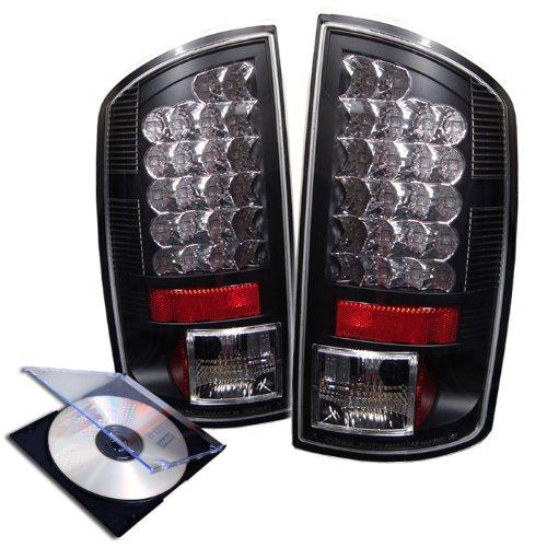 Rxmotor 07 2008 Dodg Ram 1500 2500 3500 Pick Up Led Tail Lights Rear Brake + Install Guide
