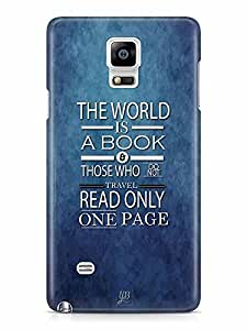 YuBingo The World is a Book. Those Who Don't Travel, Read only one Page Designer Mobile Case Back Cover for Samsung Galaxy Note 4