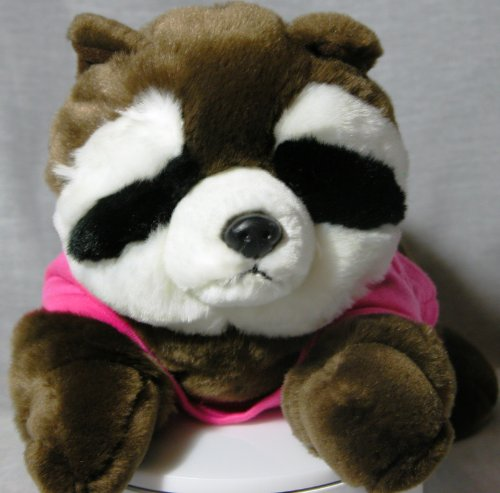 "Aurora Bandit Racoon 14"" Plush Brown and White Camp Timber Ridge - 1"